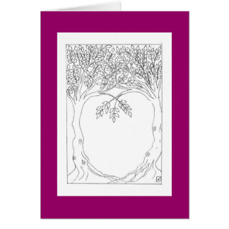 Trees Growing Together Card