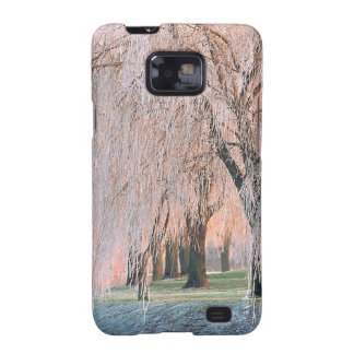 Trees Ice Covered Willow Samsung Galaxy S2 Cover