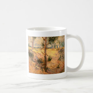 Trees in a Field on a Sunny Day Basic White Mug