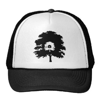 Trees in a line mesh hat