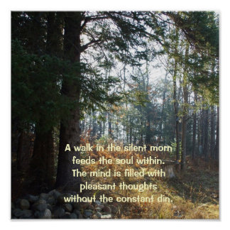 Trees in an Early Autumn Morning-Healing Poem Poster