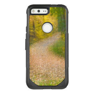 Trees in Autumn Colors and Leaf-Covered Pathway OtterBox Commuter Google Pixel Case