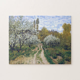 Trees in Bloom Monet Fine Art Jigsaw Puzzle