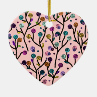 Trees in Flight Ceramic Heart Decoration