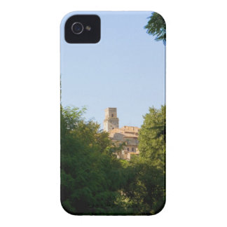 Trees in front of a building, Monteriggioni, iPhone 4 Case