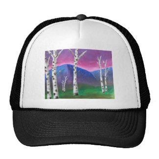 Trees in front of Mountains III Trucker Hats
