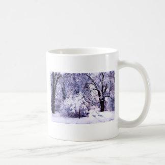 Trees in Snow Basic White Mug
