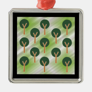 Trees in the Mist Christmas Ornament