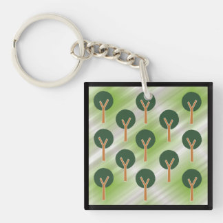Trees in the Mist Key Ring