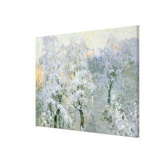 Trees in Wintry Silver, 1910 Stretched Canvas Print
