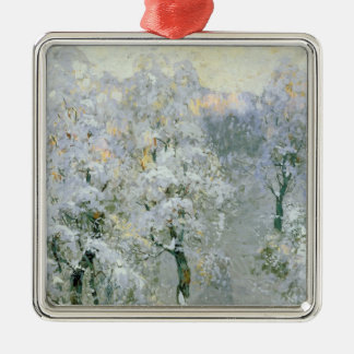 Trees in Wintry Silver, 1910 Christmas Ornament