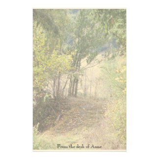 Trees in Woods Personalized Stationery