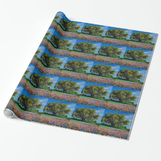 Trees Live Oak Among Texas Bluebonnets Wrapping Paper