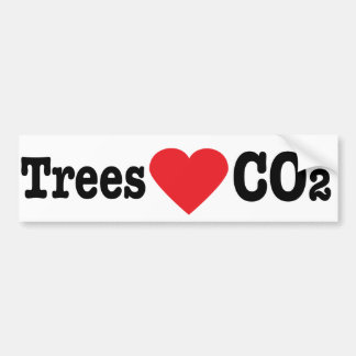 Trees Love CO2 Bumper Sticker