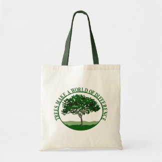Trees Make a World of Difference Budget Tote Bag