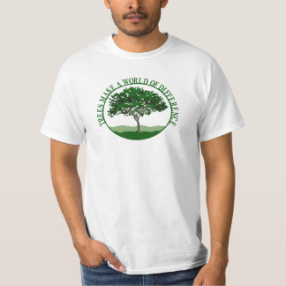 Trees Make a World of Difference Mens Value T T-Shirt