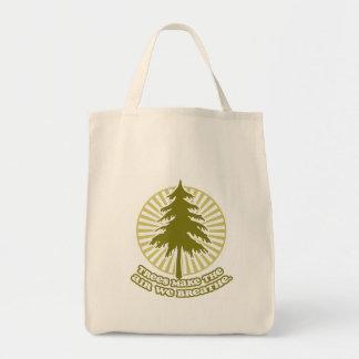 Trees Make Air Accent Tote Bag