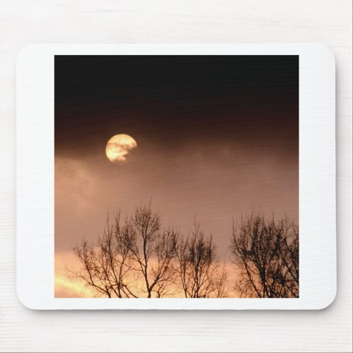 Trees Ominous Evening Mouse Pads