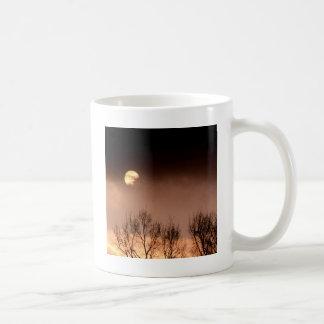 Trees Ominous Evening Basic White Mug