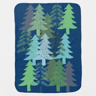 Trees on Blue Baby Blanket