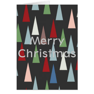 Trees on the vertical greeting card