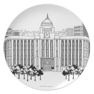 Trees Party Plate