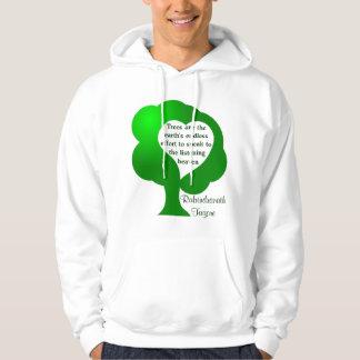 Trees quote mens hoodie