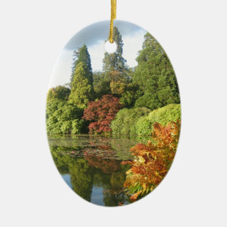 Trees Reflected in Water Christmas Ornament