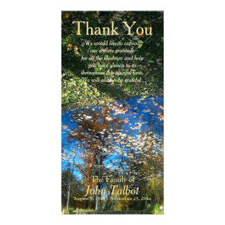 Trees Reflection Autumn Sympathy Thank You P Customised Photo Card