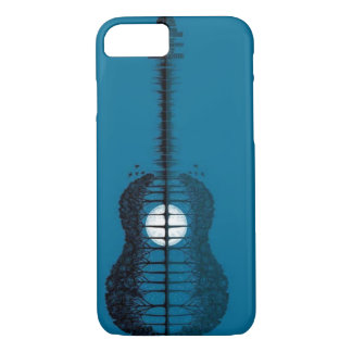 Trees sea and the moon turned guitar iPhone 8/7 case