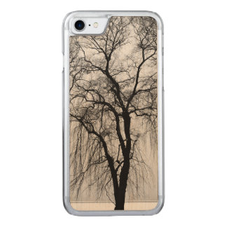 Trees silhouettes in winter carved iPhone 7 case