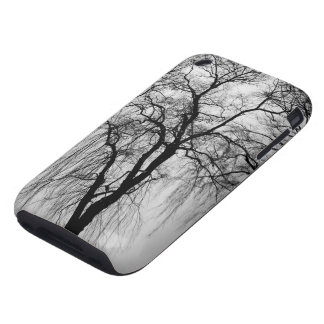 Trees silhouettes in winter iPhone 3 tough case