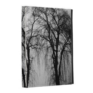 Trees silhouettes in winter iPad folio covers