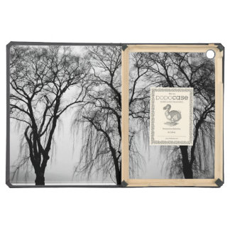 Trees silhouettes in winter cover for iPad air