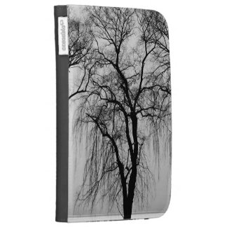 Trees silhouettes in winter kindle covers