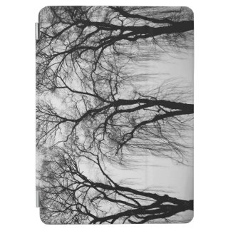 Trees silhouettes in winter iPad air cover