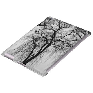Trees silhouettes in winter iPad case