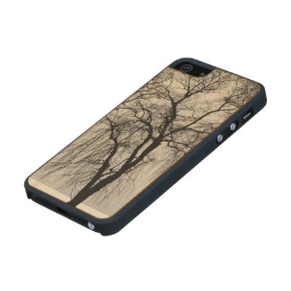 Trees silhouettes in winter carved® maple iPhone 5 case