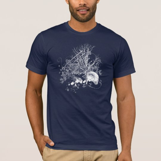 Trees Skull Graphic Mens T-Shirt