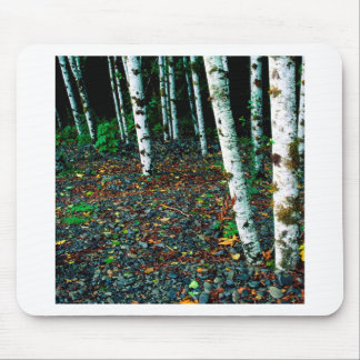 Trees Standing Room Only Birch Mouse Pads