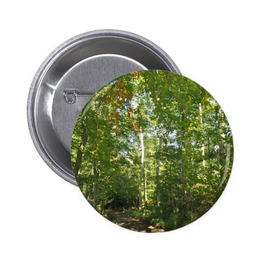 Trees with beautiful green leaves Button Badge