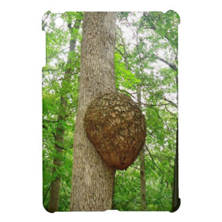 Trees with Large enclosed Bee Wasp Hive iPad Mini Case