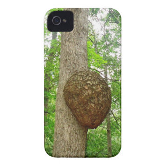 Trees with Large enclosed Bee Wasp Hive iPhone 4 Case-Mate Cases