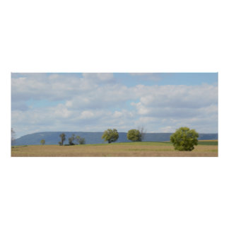 Trees with Mountains Scenery Photo Poster