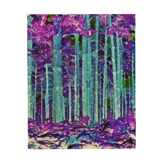 TREES WOOD WALL ART