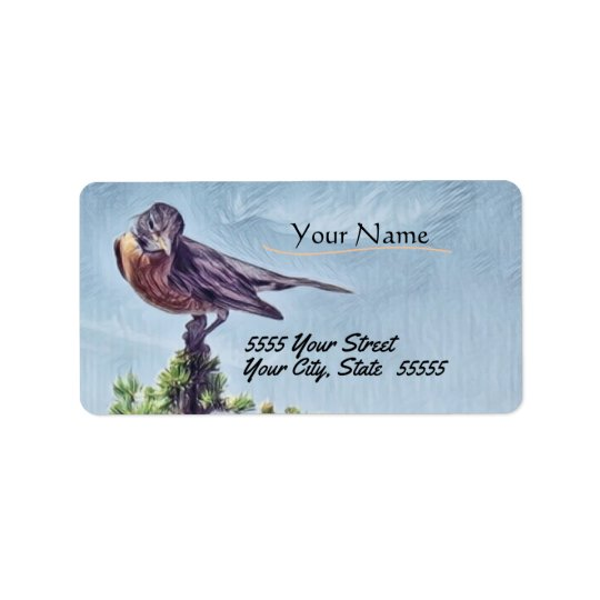 Treetop Robin Custom Address Labels