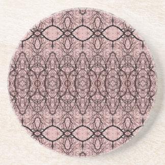 Treetop Spider's Web Burgundy Coaster