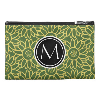 Treetop Sunflower Personalized Monogram Travel Accessories Bags