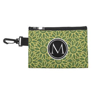 Treetop Sunflower Personalized Monogram Accessories Bag