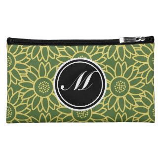 Treetop Sunflower Personalized Monogram Makeup Bag